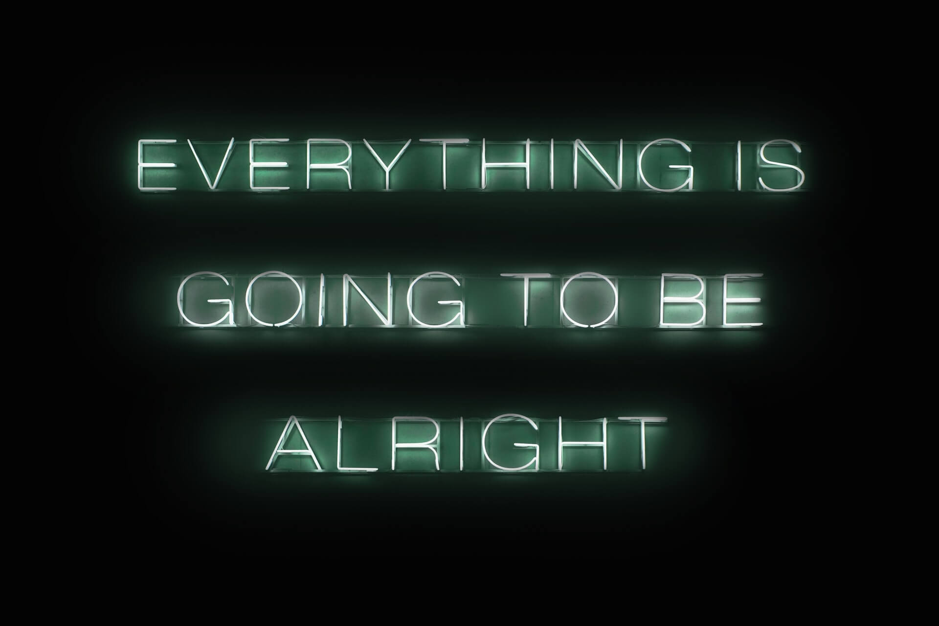 ignore-negativity-quotes-green-neon-sign-everything-alright