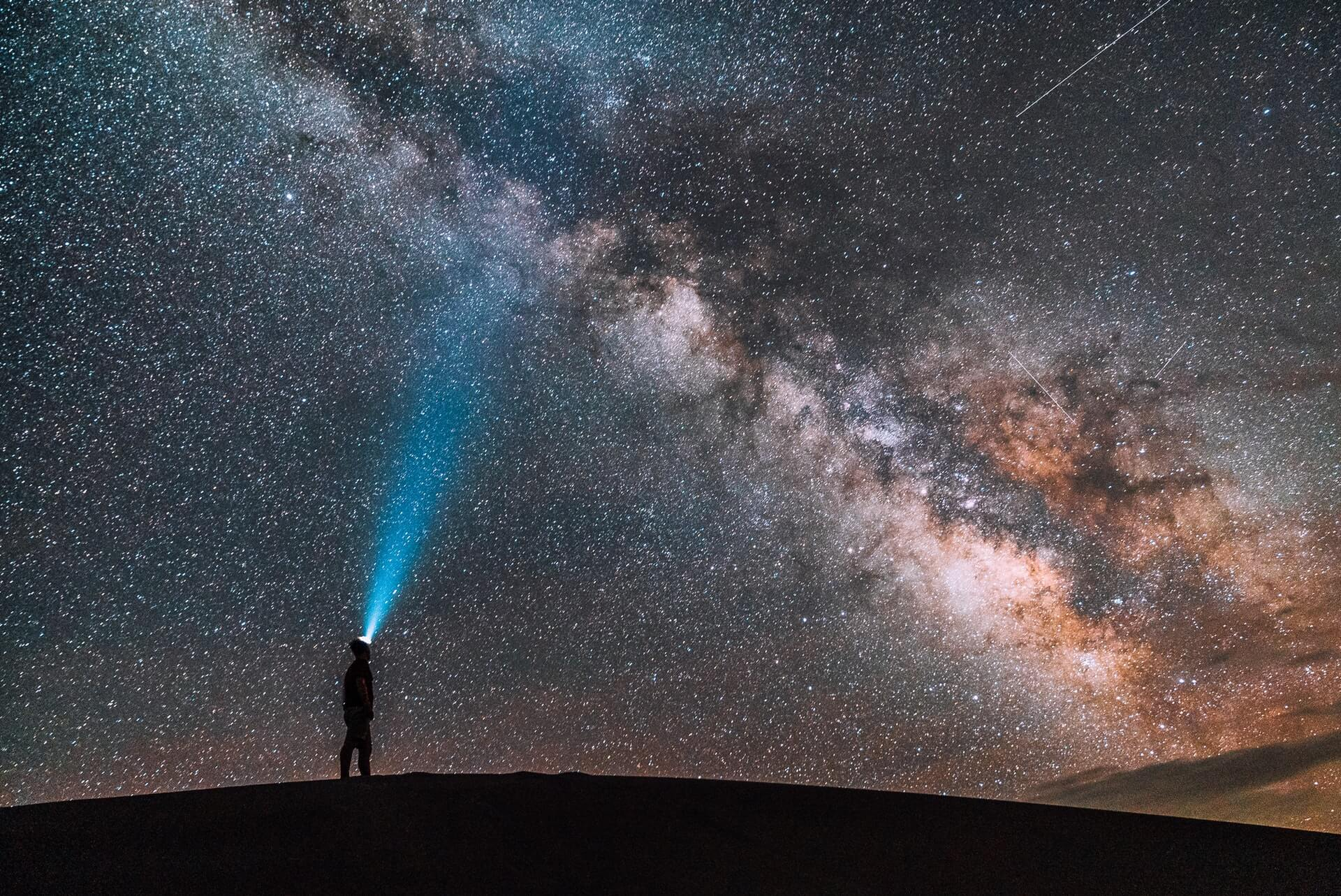 use-law-attraction-man-looking-milky-way-beam-from-head